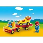 Playmobil 1.2.3 Coche de Carreras con Transportador