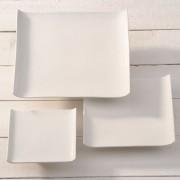 witte vierkante schaal 100x100