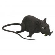 Merkloos Piepende rat halloween decoratie 13 cm