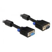 Delock extension cable VGA HD15F/HD15M dual-shielded w/2*ferrite core 15m cable