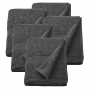 [neu.haus]® 5 x Toallas de rizo para Invitados - 100 x 150 cm - Set de toallas de baño - Paño - Toalla de sauna grande - 100% algodón - 450 g/m² - Gris
