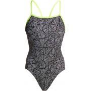 Funkita Single Strap One Piece Baddräkt Dam vit/svart DE 40 US 36 2019 Badkläder