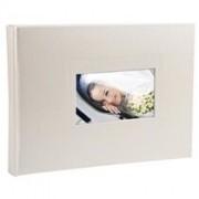 Exacompta Fotoalbum SOFTISSIMO - boekgebonden - 28,5 x 22cm - 30 witte bladen - Glittery wit (11323E)