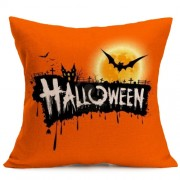 Halloween Decoration Pattern Car Sofa Pillowcase with Decorative Head Restraints Home Sofa Pillowcase J Size:43*43cm -HC3203J