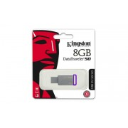 Pendrive, 8GB, USB 3.1, KINGSTON DT50, ezüst-lila (UK8GDT50)