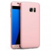Husa Fullbody MyStyle Rose-Gold pentru Samsung Galaxy S7 Edge acoperire completa 360 grade cu folie de protectie gratis