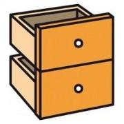 Set 2 laden mandarijn voor werkpost Biblioffice