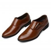 Zapatos De Vestir Del Negocio De La PU De La Manera Para Los Hombres marrón