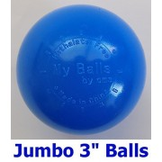 "My Balls Pack of 100 Commercial Grade Blue Color Jumbo 3"" Crush-Proof Ball Pit Balls - Phthalate Free, BPA Free, PVC Free, in Single Color (Blue, 100)"