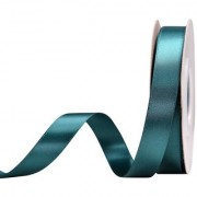 DIY Crafts Teal Double Face Satin Ribbon for Floral Arrangement No Fading Woven Ribbon 5/8 Inches x 25 Yards