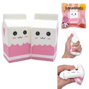 IKUURANI Squishy Jumbo Pink Milk Bottle Box 11.5*6cm Slow Rising With Packaging Collection Gift Soft Toy