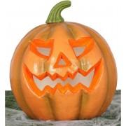 Pompoen met licht 24 cm Halloween decoratie - Horror themafeest versiering - Verlichting/lampen