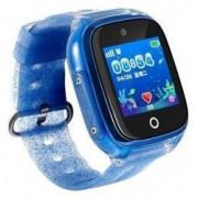 Ceas smartwatch copii cu GPS Wonlex KT01 WiFi + localizare foto submersibil telefon buton SOS Albastru Pachet Bundle