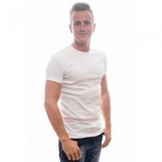 Slater T-Shirt Body Fit Round Neck White 1 Pack ( art 5500) - Wit - Size: Large