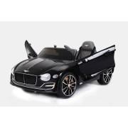 Mașinuță electrică pentru copii Bentley EXP 12 Prototype, Vopsită în Negru, Licență Originală, cu Baterii, Uși care se deschid, Scaun din Piele, 2x Motoare, Baterie de 12V, Telecomandă 2.4 Ghz, roți ușoare EVA, pornire Lină