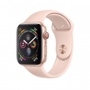 Reloj apple watch series 4 40 mm caja de aluminio en color oro con banda deportiva rosa arena gps