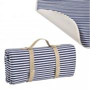 [casa.pro] Piknik pléd / takaró - 200x147cm - kék/fehér