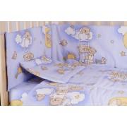 Aparatoare laterala 180 x 30 cm, ursuletul somnoros albastra