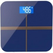 Rorian Personal Body Weight Machine Digital 8mm Toughened Glass WIth Backlit LCD Display Weighing Scale(Blue)