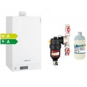 Centrala termica Viessmann Vitodens 100-W 35 kw combi cu filtru antimagnetita Cleanex HF1