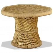 vidaXL nyolcszögű bambusz dohányzóasztal 60 x 60 x 45 cm