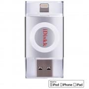 Stick USB 32GB U003 USB 3.0, MFI Argintiu iDISKK