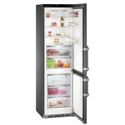 Combina frigorifica Liebherr CBNbs 4878, 344 L, No Frost, Display, Control electronic, Alarma usa, BioFresh, HolidayMode, SuperCool, H 201 cm, A+++, BlackSteel