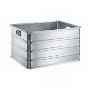 Certeo Transport- und Stapelkasten aus Aluminium - Inhalt 155 l - rollenbahngeeignet