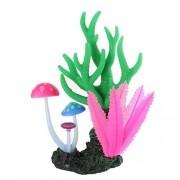 DealMux Ornamento planta silicona acuario de mar artificial que brilla Coral Paisaje