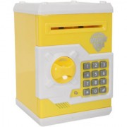 Money Safe Kids Piggy Savings Bank with Electronic Lock (Yellow)