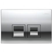 Clapeta actionare rezervor incastrat Dual-Flush,Geberit Delta 50 crom lucios -115.135.21.1