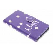 Be happy design TPU booktype hoes voor de Sony Xperia Z3