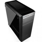 Кутия Modecom Oberon Pro Glass, ATX/ Micro ATX/ ITX , 2 x USB 3.0, черна, страничен прозорец, без захранване