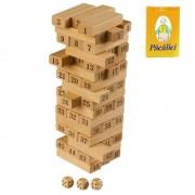 Turn instabil din lemn cu cifre- Momki cu Carti de joc PACALICI Vintage