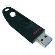 64GB USB Flash Drive, SanDisk Ultra, USB 3.0, черен