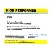 High Performer HD SAE 30W Einbereichsöl 5 Litre Can