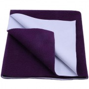 Glassiano Waterproof Baby Bed Protector Dry Sheet (140x220 CM) Single Bed Size Plum