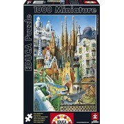 Educa Borras 1000 Piece Miniature Puzzle-Collage Gaudi