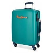 Kofer Pepe Jeans Bristol, srednji zeleni