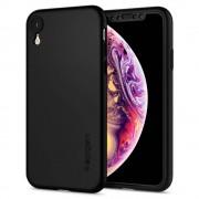 Carcasa Spigen Thin Fit 360 iPhone XR Black cu folie de protectie