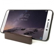 Triangle design Wooden Mobile Phone Stand / Holder For Smartphone (Dark Brown)