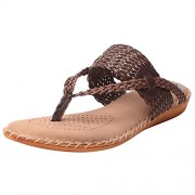Feel It Comfortable Leatherite Casual/Formal/Partywear Flat Comfort Footwear for Women's & Girl's - (DR.PADDING BROWN-38)