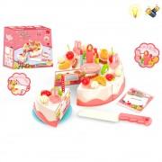 Комплект торта за рязане със светеща свещичка EmonaMall - Код W1684