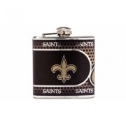 Great American Products Stainless Steel NFL Team Flasks New Orleans Saints Gray