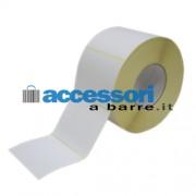 Etichette adesive in carta Vellum 100 x 80 mm per stampanti Industriali a trasferimento termico (ribbon necessario)