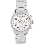 Titan Quartz Grey Round Men Watch 1634SM01