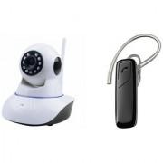 Zemini Wifi CCTV Camera and HM 1100 Bluetooth Headset for LG VU 3(Wifi CCTV Camera with night vision |HM 1100 Bluetooth Headset With Mic )