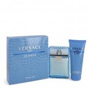 Versace Man by Versace Gift Set -- 3.3 oz Eau De Toilette Spray (Eau Frachie) + 3.3 oz Shower Gel