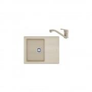 Pachet chiuveta de bucatarie Franke BFG 611-62, reversibila, fragranite, avena + baterie Novara Plus, avena, 114.0491.714