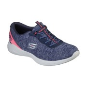 Skechers Womens Envy Misstep Durable Slip On Sports Trainers - Navy - Size: 8